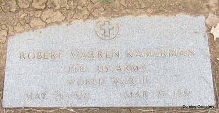 KAMERMAN (VETERAN WWII), ROBERT WARREN - Clay County, Arkansas | ROBERT WARREN KAMERMAN (VETERAN WWII) - Arkansas Gravestone Photos