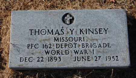 KINSEY (VETERAN WWI), THOMAS Y - Clay County, Arkansas | THOMAS Y KINSEY (VETERAN WWI) - Arkansas Gravestone Photos