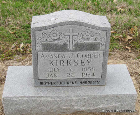 KIRKSEY, AMANDA J - Clay County, Arkansas | AMANDA J KIRKSEY - Arkansas Gravestone Photos