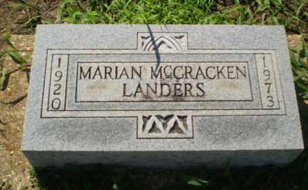 MCCRACKEN LANDERS, MARIAN - Clay County, Arkansas | MARIAN MCCRACKEN LANDERS - Arkansas Gravestone Photos