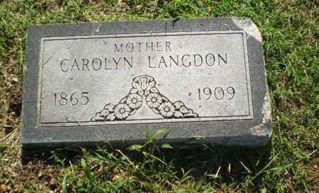 LANGDON, CAROLYN - Clay County, Arkansas | CAROLYN LANGDON - Arkansas Gravestone Photos