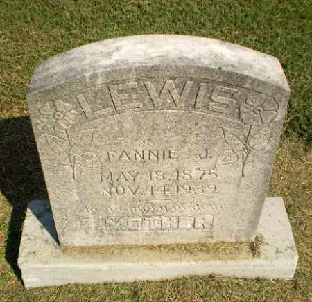 LEWIS, FANNIE J - Clay County, Arkansas | FANNIE J LEWIS - Arkansas Gravestone Photos
