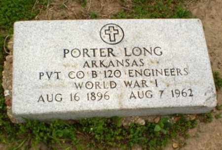 LONG  (VETERAN WWI), PORTER - Clay County, Arkansas | PORTER LONG  (VETERAN WWI) - Arkansas Gravestone Photos