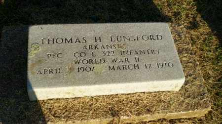 LUNSFORD  (VETERAN WWII), THOMAS H - Clay County, Arkansas | THOMAS H LUNSFORD  (VETERAN WWII) - Arkansas Gravestone Photos