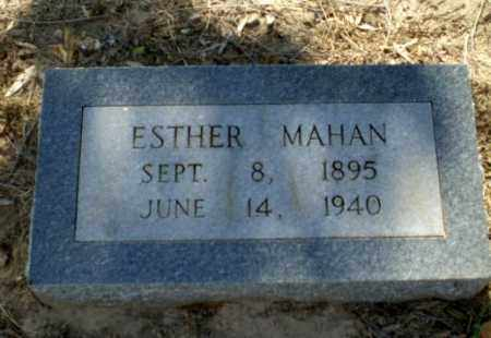 MAHAN, ESTHER - Clay County, Arkansas | ESTHER MAHAN - Arkansas Gravestone Photos