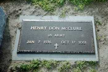 MCCLURE (VETERAN), HENRY DON - Clay County, Arkansas | HENRY DON MCCLURE (VETERAN) - Arkansas Gravestone Photos