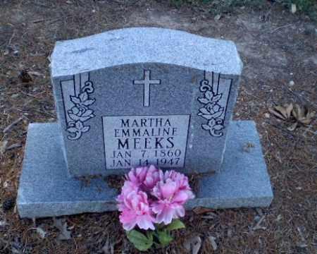 MEEKS, MARTHA EMMALINE - Clay County, Arkansas | MARTHA EMMALINE MEEKS - Arkansas Gravestone Photos