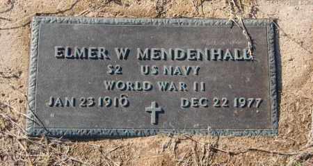 MENDENHALL (VETERAN WWII), ELMER W - Clay County, Arkansas | ELMER W MENDENHALL (VETERAN WWII) - Arkansas Gravestone Photos