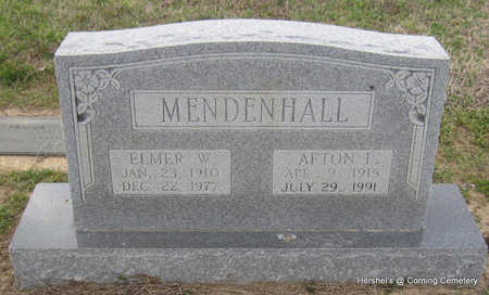 MENDENHALL, ELMER W - Clay County, Arkansas | ELMER W MENDENHALL - Arkansas Gravestone Photos