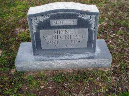 MENDENHALL, MINNIE - Clay County, Arkansas | MINNIE MENDENHALL - Arkansas Gravestone Photos