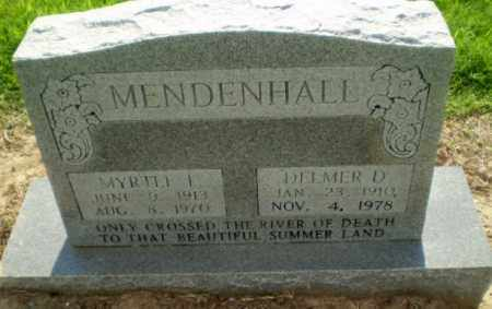 MENDENHALL, MYRTLE I - Clay County, Arkansas | MYRTLE I MENDENHALL - Arkansas Gravestone Photos