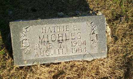 MICHLES, HATTIE E - Clay County, Arkansas | HATTIE E MICHLES - Arkansas Gravestone Photos