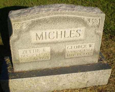 MICHLES, ZETTIE E - Clay County, Arkansas | ZETTIE E MICHLES - Arkansas Gravestone Photos
