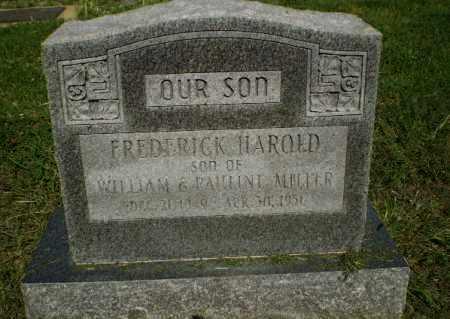 MILLER, FREDERICK HAROLD - Clay County, Arkansas | FREDERICK HAROLD MILLER - Arkansas Gravestone Photos