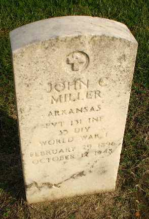 MILLER (VETERAN WWI), JOHN C - Clay County, Arkansas | JOHN C MILLER (VETERAN WWI) - Arkansas Gravestone Photos