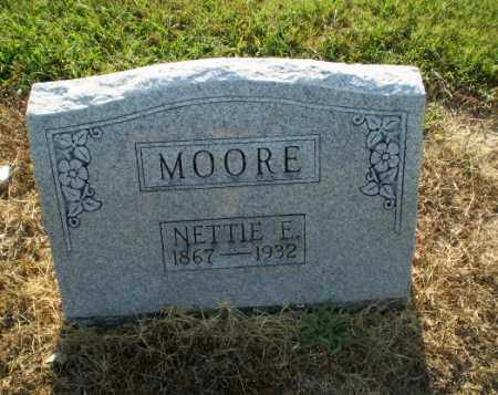 MOORE, NETTIE E - Clay County, Arkansas | NETTIE E MOORE - Arkansas Gravestone Photos