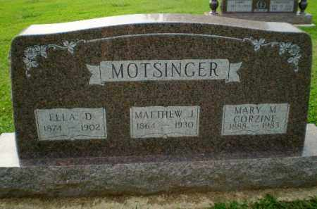 MOTSINGER CORZINE, MARY M - Clay County, Arkansas | MARY M MOTSINGER CORZINE - Arkansas Gravestone Photos