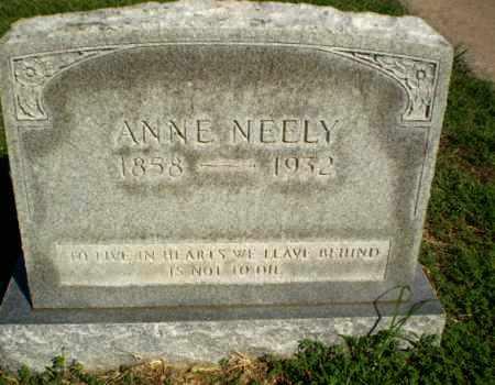 NEELY, ANNE - Clay County, Arkansas | ANNE NEELY - Arkansas Gravestone Photos