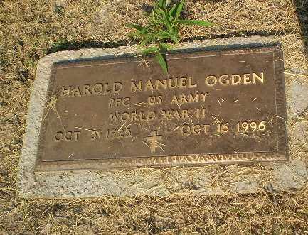 OGDEN   (VETERAN WWII), HAROLD MANUEL - Clay County, Arkansas | HAROLD MANUEL OGDEN   (VETERAN WWII) - Arkansas Gravestone Photos