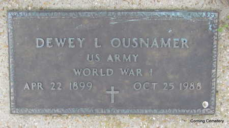 OUSNAMER  (VETERAN WWI), DEWEY L - Clay County, Arkansas | DEWEY L OUSNAMER  (VETERAN WWI) - Arkansas Gravestone Photos