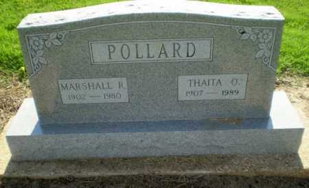 POLLARD, MARSHALL R - Clay County, Arkansas | MARSHALL R POLLARD - Arkansas Gravestone Photos