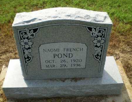 FRENCH POND, NAOMI - Clay County, Arkansas | NAOMI FRENCH POND - Arkansas Gravestone Photos