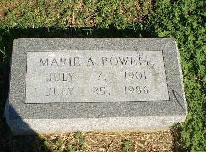 POWELL, MARIE A - Clay County, Arkansas | MARIE A POWELL - Arkansas Gravestone Photos