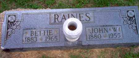 RAINES, JOHN W - Clay County, Arkansas | JOHN W RAINES - Arkansas Gravestone Photos