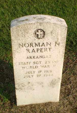 RAPERT  (VETERAN WWII KIA), NORMAN NOEL - Clay County, Arkansas | NORMAN NOEL RAPERT  (VETERAN WWII KIA) - Arkansas Gravestone Photos