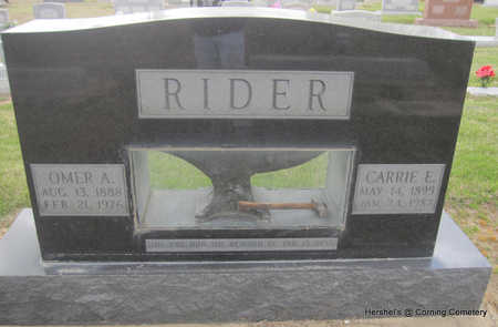 RIDER, OMER ARDEN - Clay County, Arkansas | OMER ARDEN RIDER - Arkansas Gravestone Photos