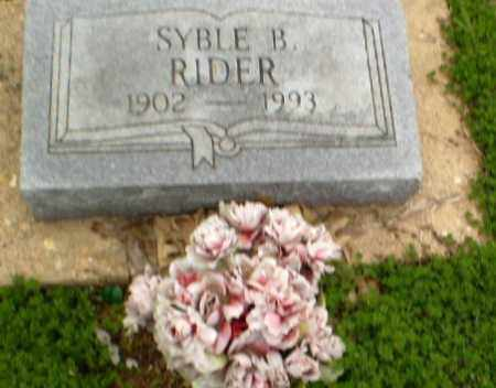 RIDER, SYBLE - Clay County, Arkansas | SYBLE RIDER - Arkansas Gravestone Photos