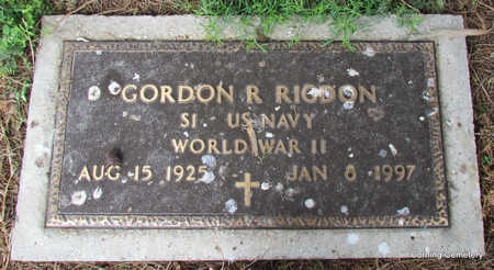 RIGDON  (VETERAN WWII), GORDON R - Clay County, Arkansas | GORDON R RIGDON  (VETERAN WWII) - Arkansas Gravestone Photos