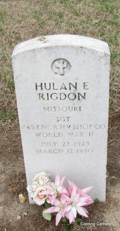 RIGDON  (VETERAN WWII), HULAN E - Clay County, Arkansas | HULAN E RIGDON  (VETERAN WWII) - Arkansas Gravestone Photos