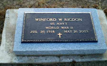 RIGDON  (VETERAN WWII), WINFORD W - Clay County, Arkansas | WINFORD W RIGDON  (VETERAN WWII) - Arkansas Gravestone Photos