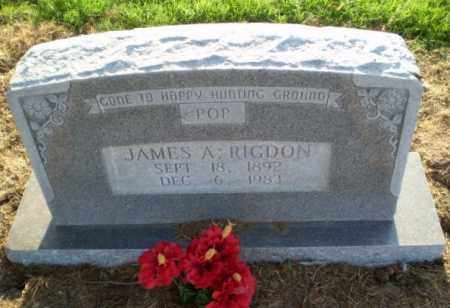RIGDON, JAMES A - Clay County, Arkansas | JAMES A RIGDON - Arkansas Gravestone Photos