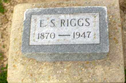 RIGGS, E S - Clay County, Arkansas | E S RIGGS - Arkansas Gravestone Photos