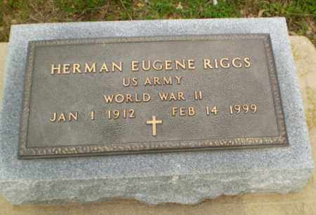 RIGGS  (VETERAN WWII), HERMAN EUGENE - Clay County, Arkansas | HERMAN EUGENE RIGGS  (VETERAN WWII) - Arkansas Gravestone Photos