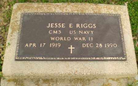 RIGGS  (VETERAN WWII), JESSE E. - Clay County, Arkansas | JESSE E. RIGGS  (VETERAN WWII) - Arkansas Gravestone Photos