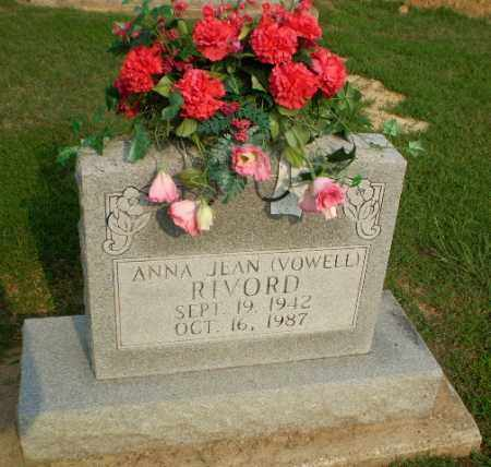 RIVORD, ANNA JEAN - Clay County, Arkansas | ANNA JEAN RIVORD - Arkansas Gravestone Photos