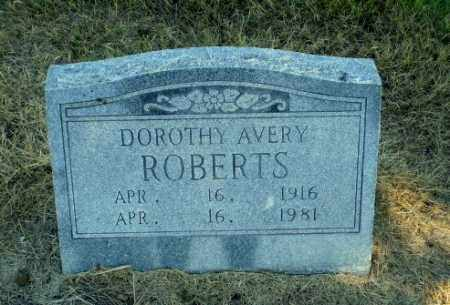 AVERY ROBERTS, DOROTHY - Clay County, Arkansas | DOROTHY AVERY ROBERTS - Arkansas Gravestone Photos