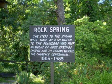 *ROCK SPRINGS MEMORIAL, SIGN - Clay County, Arkansas | SIGN *ROCK SPRINGS MEMORIAL - Arkansas Gravestone Photos