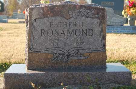 ROSAMOND, ESTHER L. - Clay County, Arkansas | ESTHER L. ROSAMOND - Arkansas Gravestone Photos