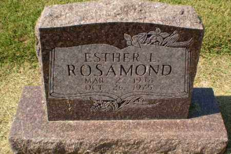 ROSAMOND, ESTHER L - Clay County, Arkansas | ESTHER L ROSAMOND - Arkansas Gravestone Photos