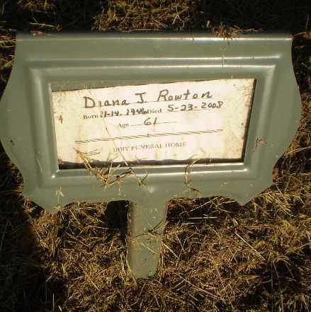 ROWTON, DIANA J - Clay County, Arkansas | DIANA J ROWTON - Arkansas Gravestone Photos