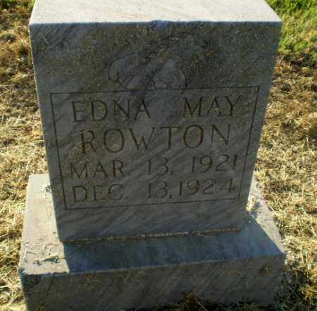 ROWTON, EDNA MAY - Clay County, Arkansas | EDNA MAY ROWTON - Arkansas Gravestone Photos