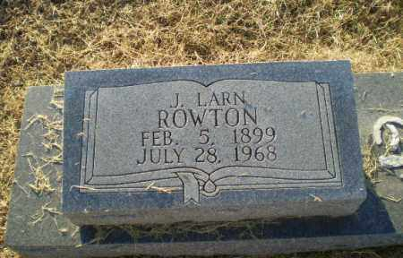 ROWTON, J. LARN - Clay County, Arkansas | J. LARN ROWTON - Arkansas Gravestone Photos