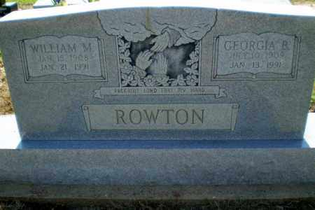 ROWTON, WILLIAM M - Clay County, Arkansas | WILLIAM M ROWTON - Arkansas Gravestone Photos
