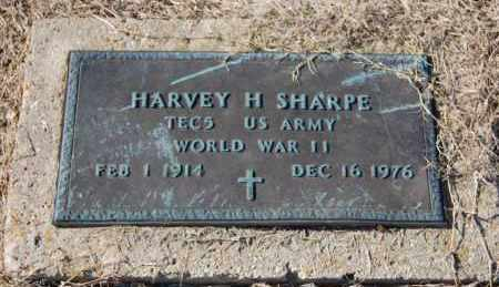 SHARPE (VETERAN WWII), HARVEY H - Clay County, Arkansas | HARVEY H SHARPE (VETERAN WWII) - Arkansas Gravestone Photos