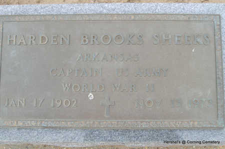 SHEEKS (VETERAN WWII), HARDEN BROOKS - Clay County, Arkansas | HARDEN BROOKS SHEEKS (VETERAN WWII) - Arkansas Gravestone Photos