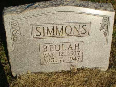 SIMMONS, BEULAH - Clay County, Arkansas | BEULAH SIMMONS - Arkansas Gravestone Photos